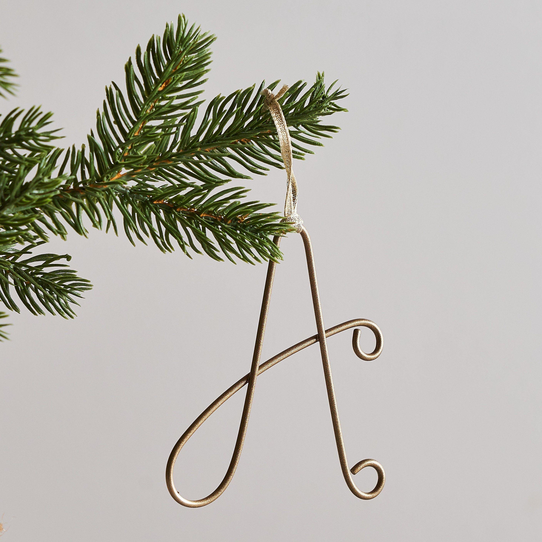 Christmas Tree Initial Tag