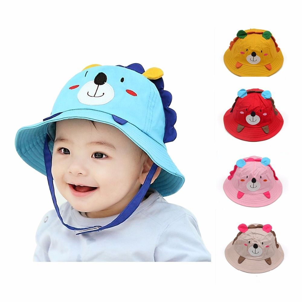 b8b92593c06c Spring Summer High Quality Cotton Baby Boys Girl Hat Children Sun Hat Baby  Bucket Caps Autumn Child Sun Cap Brim ...