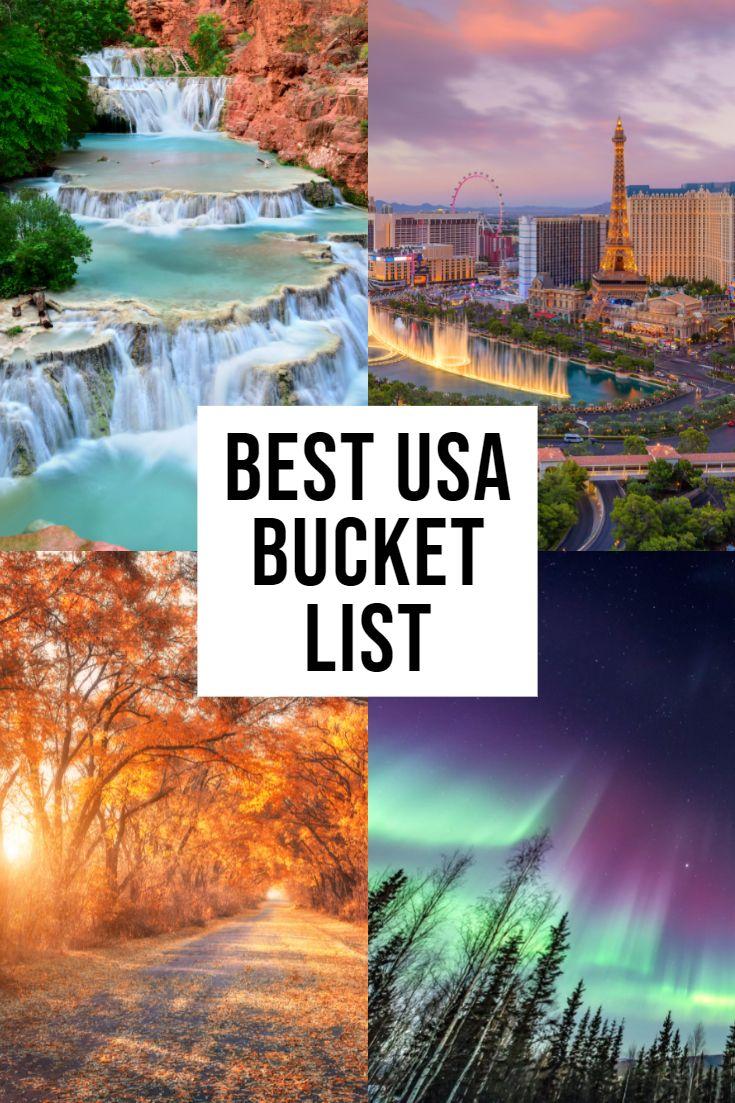 The BEST USA Bucket List!