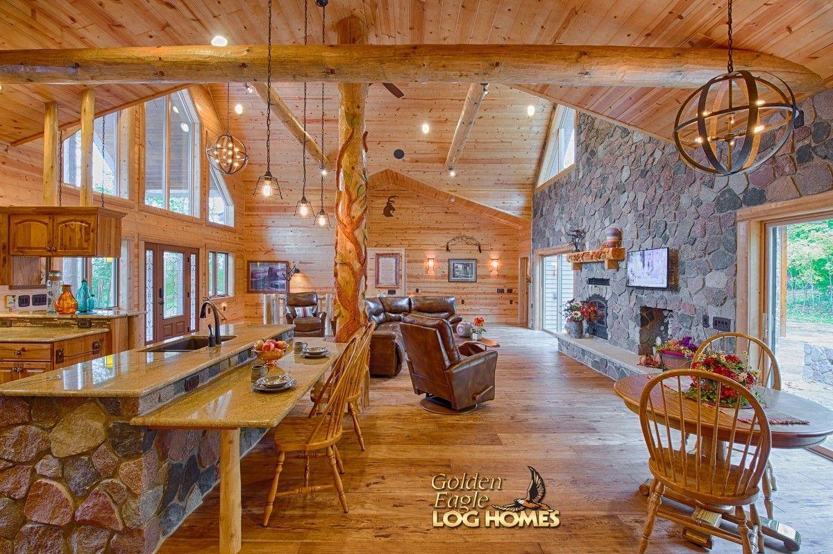Exterior: Log Home By Golden Eagle Log Homes - Dining Area