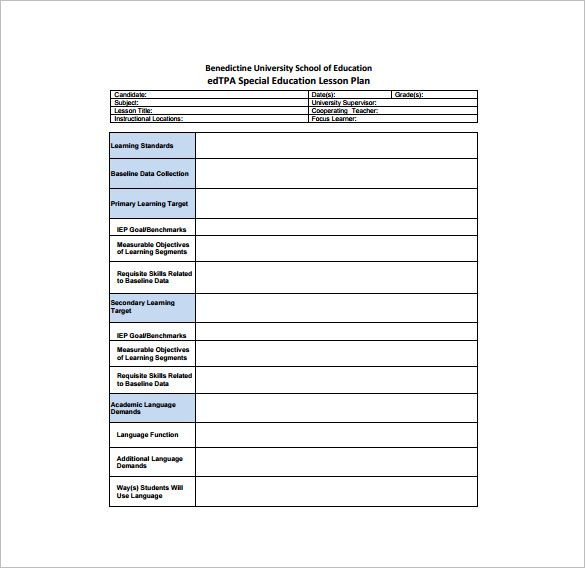 Teacher Lesson Plan Template - Free Word Documents Download Free - sample elementary lesson plan template