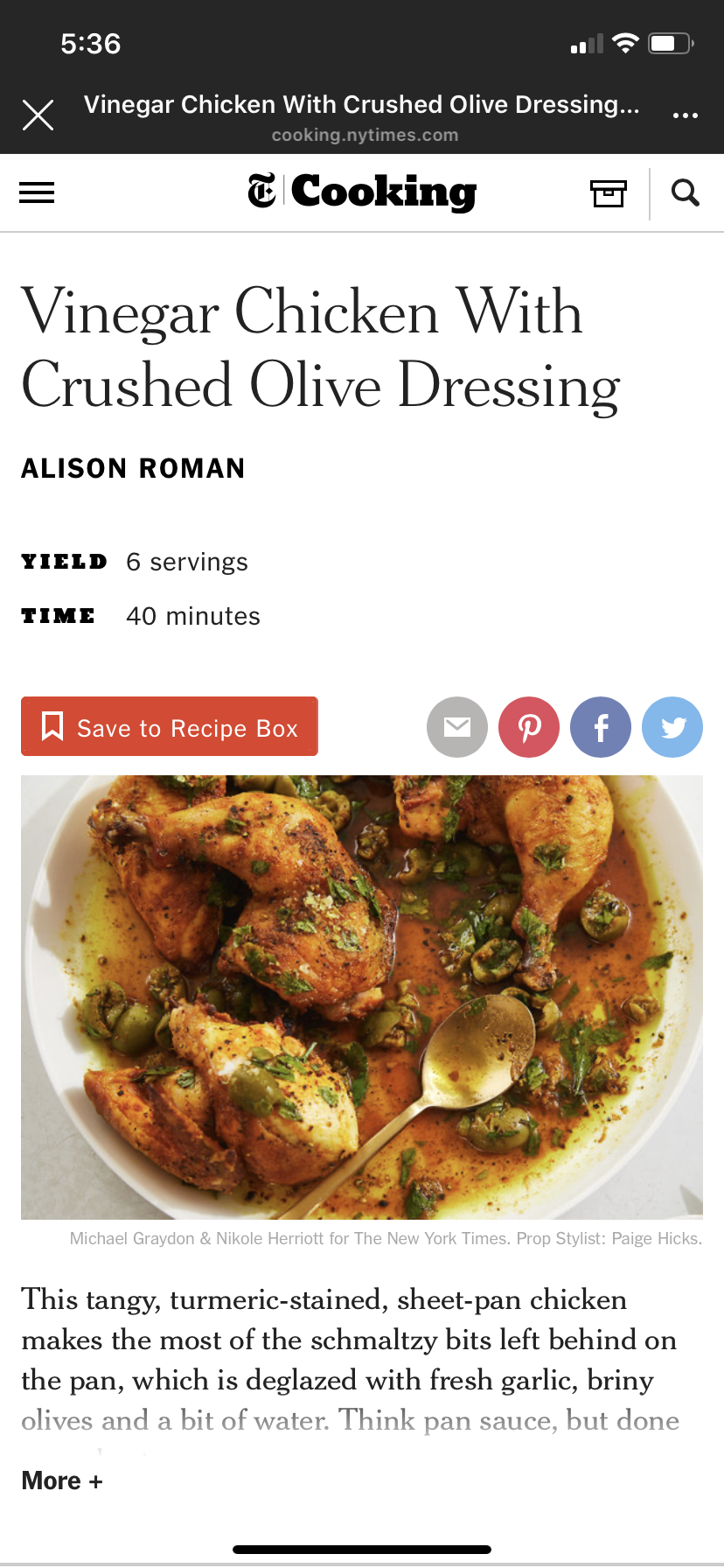Bon Appetit Recipes Vinegar Chicken With Crushed Olive Dressing Bon Appetite Recipes Recipes Vinegar Chicken
