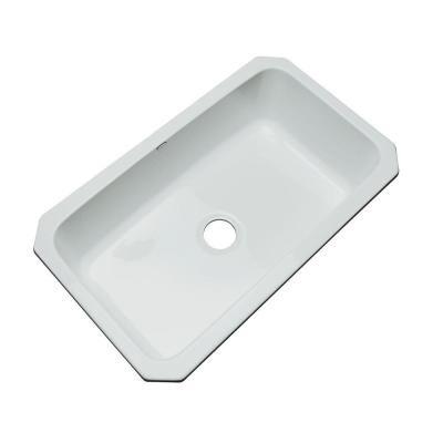 Thermocast Manhattan Undermount Acrylic 33 In Single Bowl Kitchen