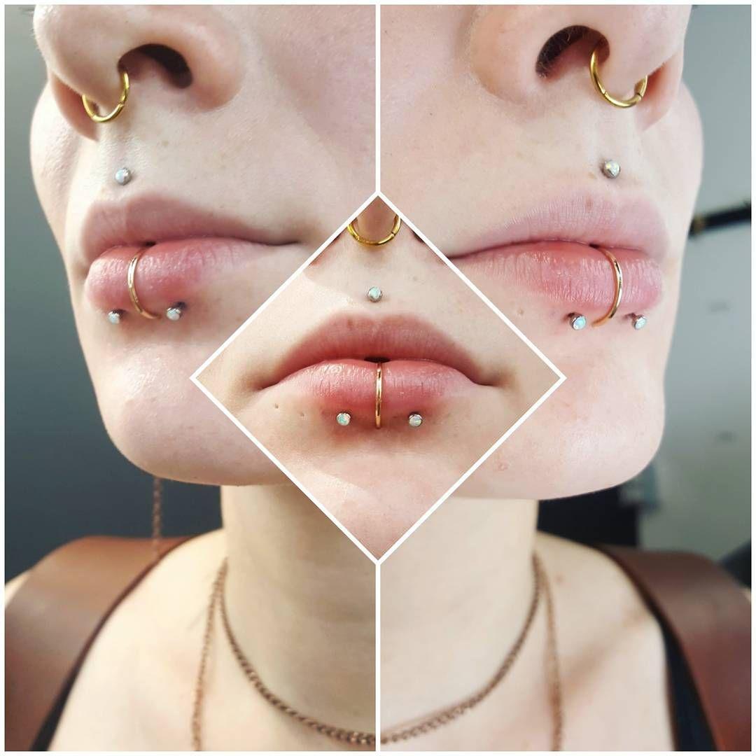 Lip piercing under nose   Likes  Comments  Amanda piercerlady on Instagram ucFresh