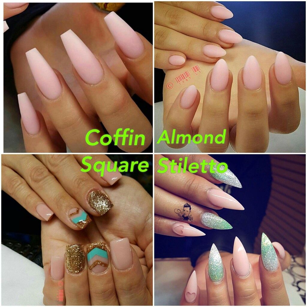 Diferent shape of nails | Nail information | Pinterest