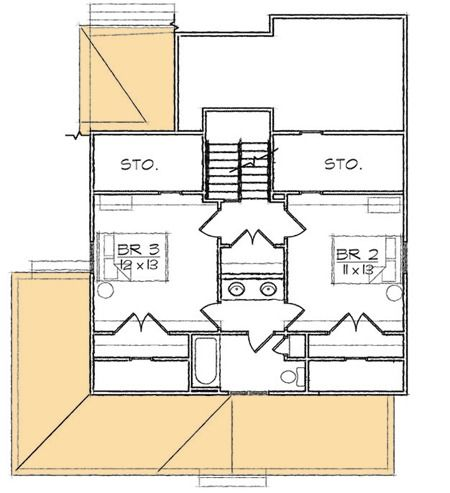 Plan 10065TT Wraparound Bungalow Home Plan Traditional, House