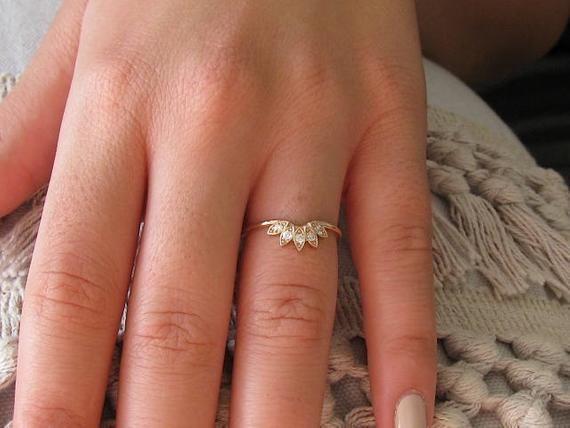nouveau concept 04317 27a26 Couronne, bague diamant, Alliance Or Rose 14k, bague de ...