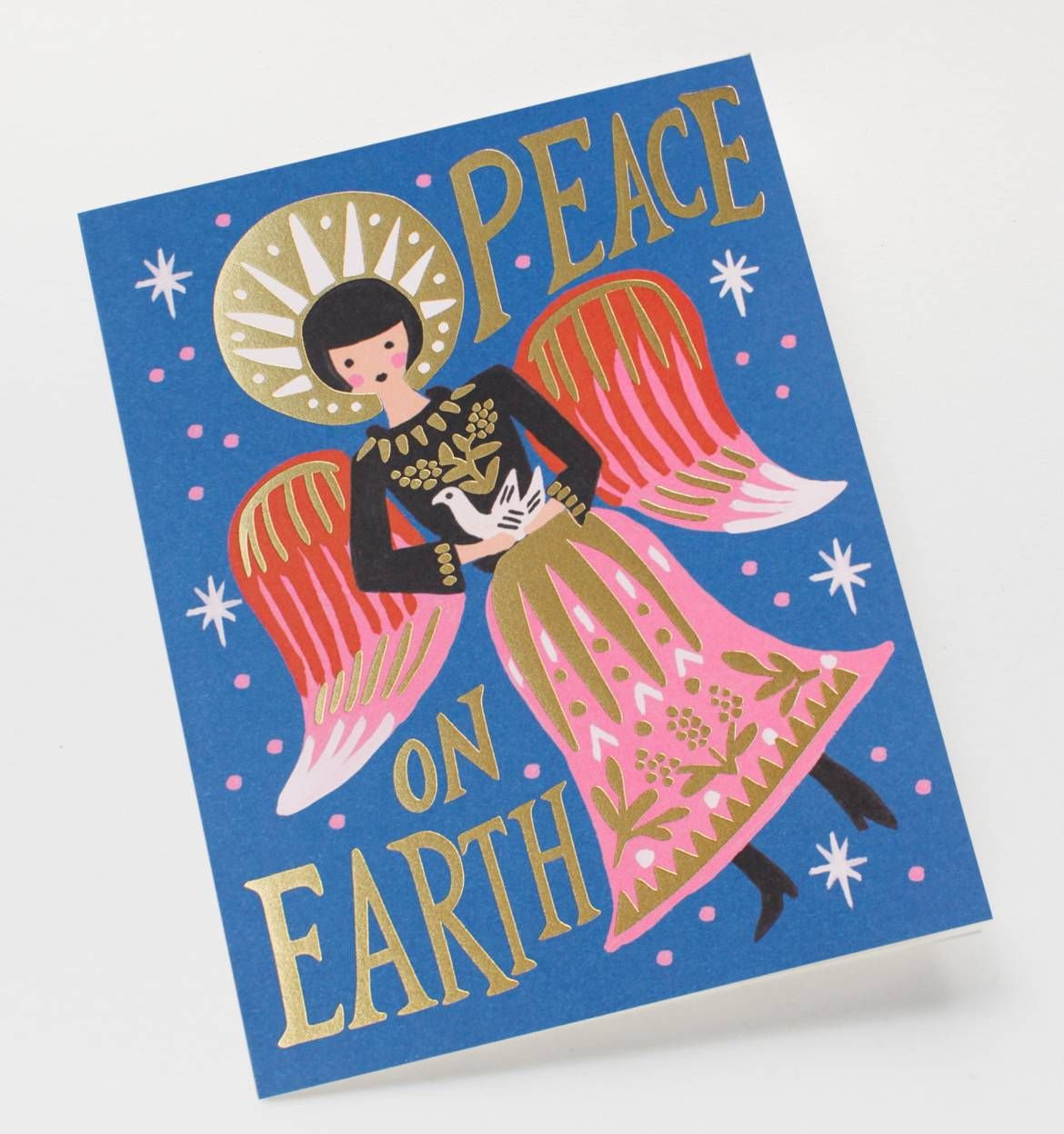 Peace on earth angel greeting card stationery peace on earth angel greeting card m4hsunfo Images