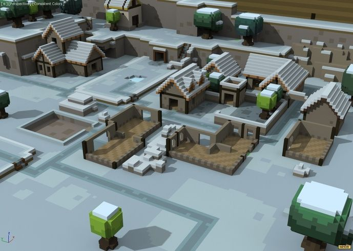 Mod Miturion S Voxel Corner Egyptian Mod Low Poly Art Low Poly Models Minecraft Buildings