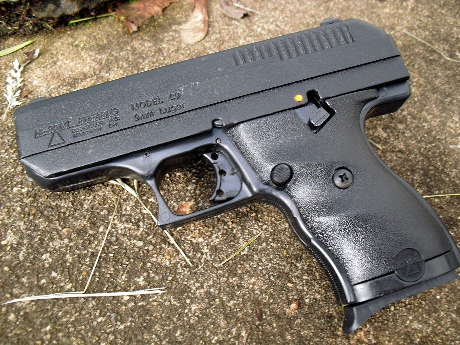 Left side of a Hi-Point C9, from an article panning the pistol.