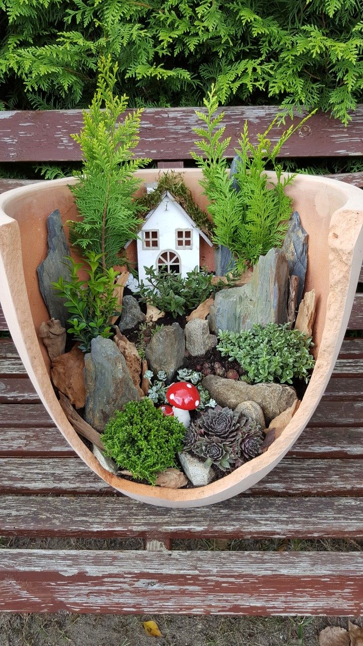 Fairy Garden Minijardines Jardin En Macetas Pinterest  ~ Macetas Originales Para El Jardin