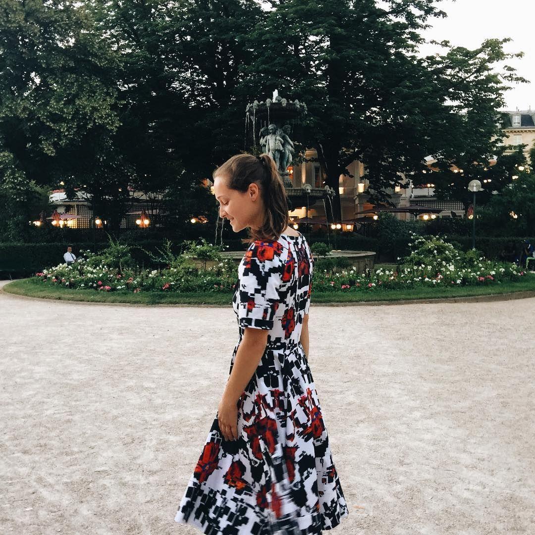 Paris in beautiful @kseniaschnaider dress #fashion