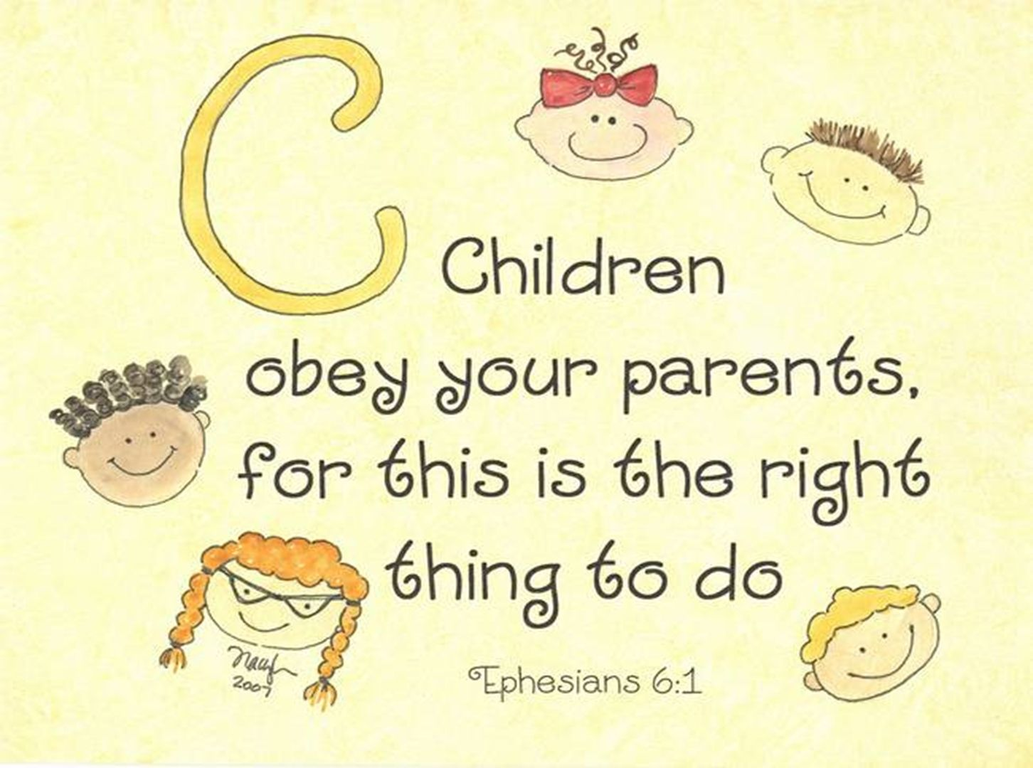 Ephesians 6 KJV - Children, obey your parents in the ...