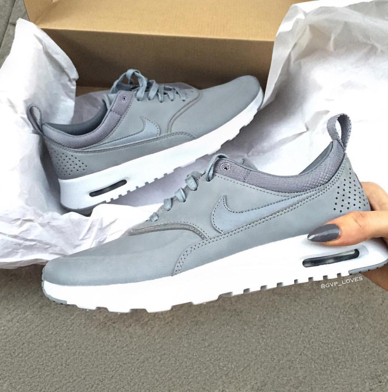 Nike Air Max Thea Premium Grau Grey Gvp Loves Nike Schuhe Frauen Nike Schuhe Turnschuhe Damen