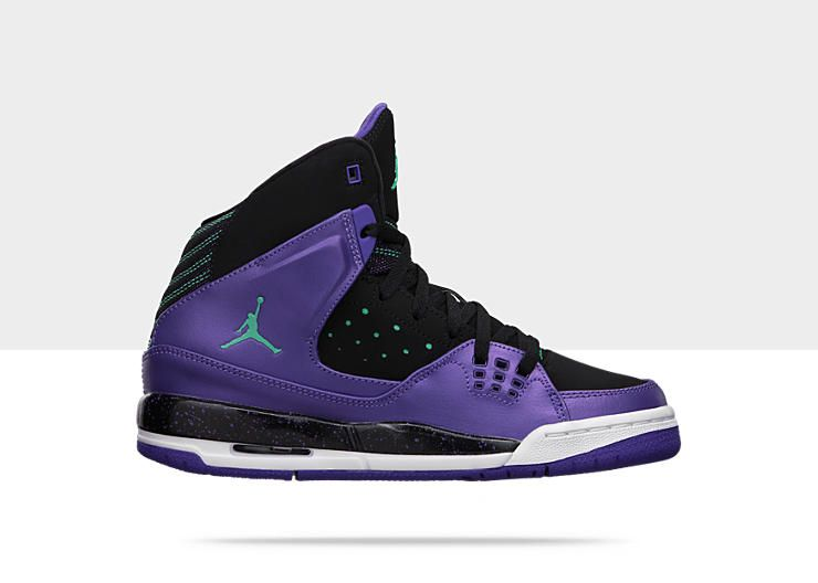 purple jordan shoes for girls