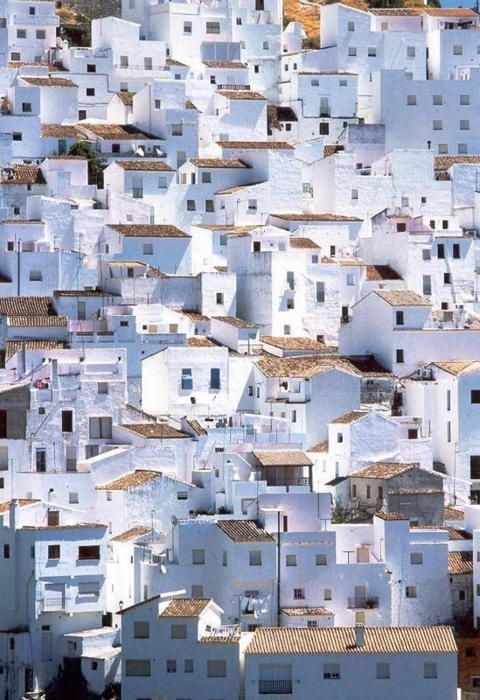 Spain Europe European Village White Buildings Crowded City Exotic Travel Destinations Dream Vacations Places To Go