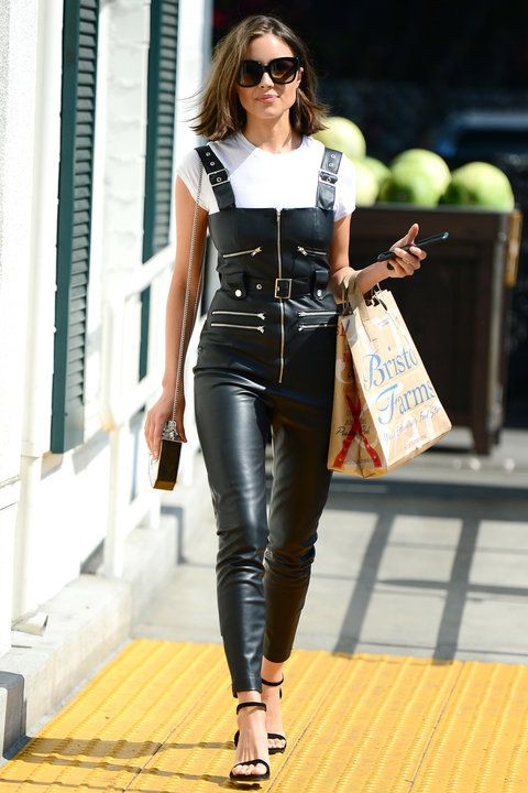 How Celebrities Wear Overalls Like Grown Ups Leather
