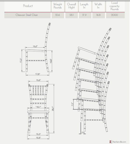Chiavari Chair Dimensions