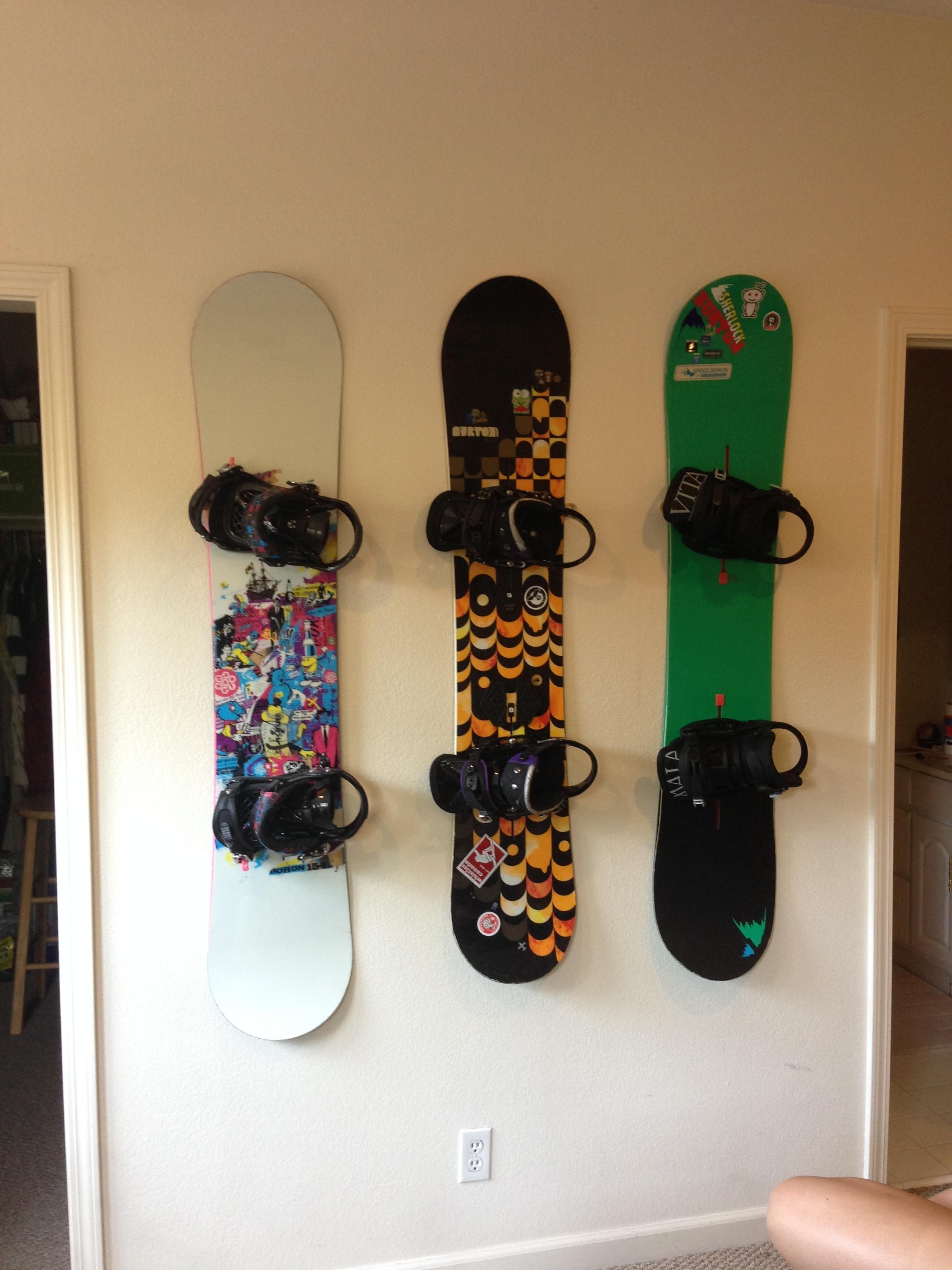 Snowboard Diy Wall Mount Snowboard Display Snowboard Diy Wall