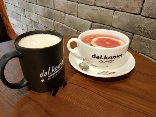 Sweet Potato Latte And Hot Honey Grapefruit From Dal Komm Coffee Coffee Latte Foodie