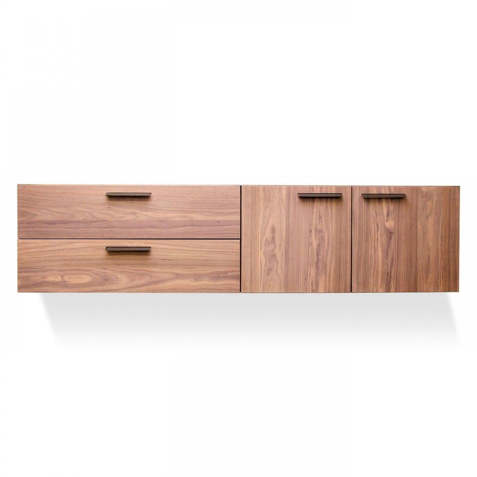 Best Shale 2 Door 2 Drawer Wall Mounted Cabinet Modern 400 x 300