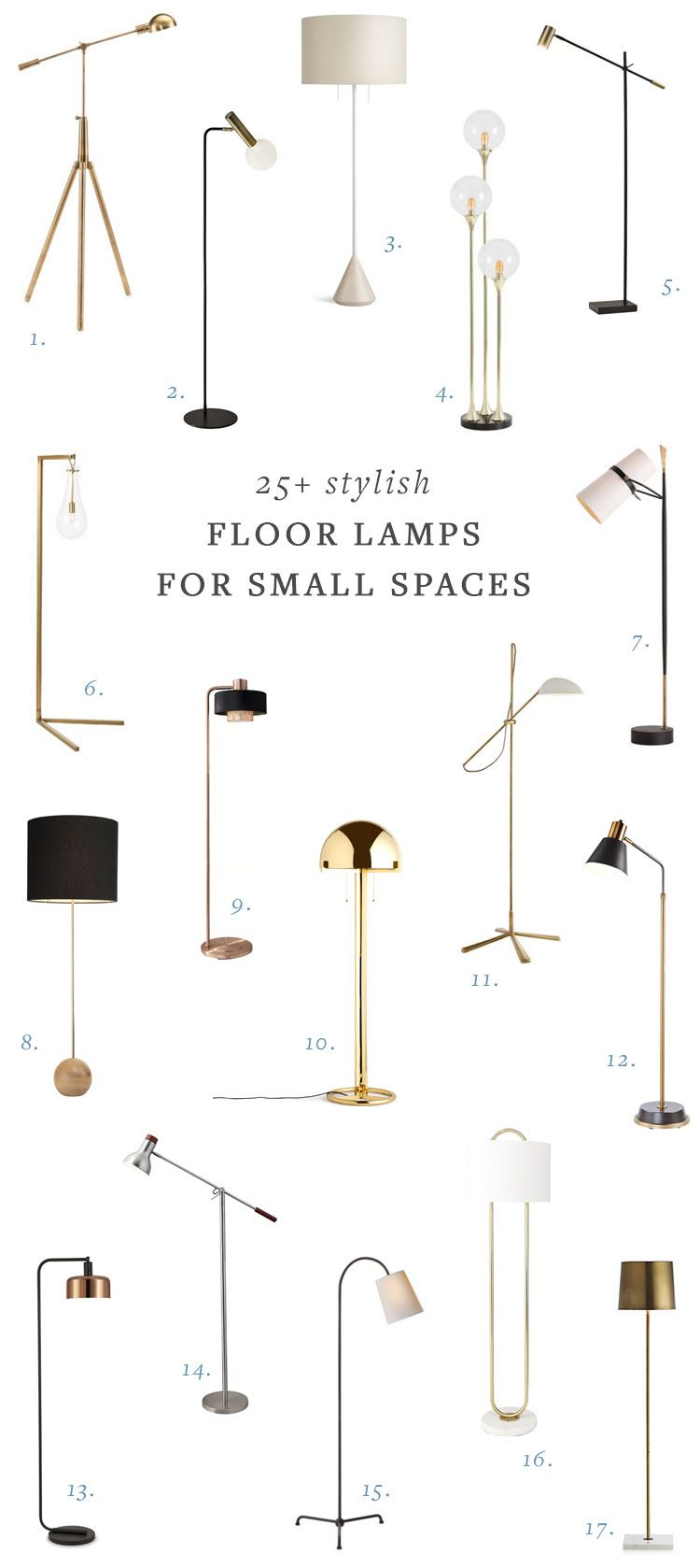 25 Stylish Floor Lamps For Your Small Space Stylish Floor Lamp