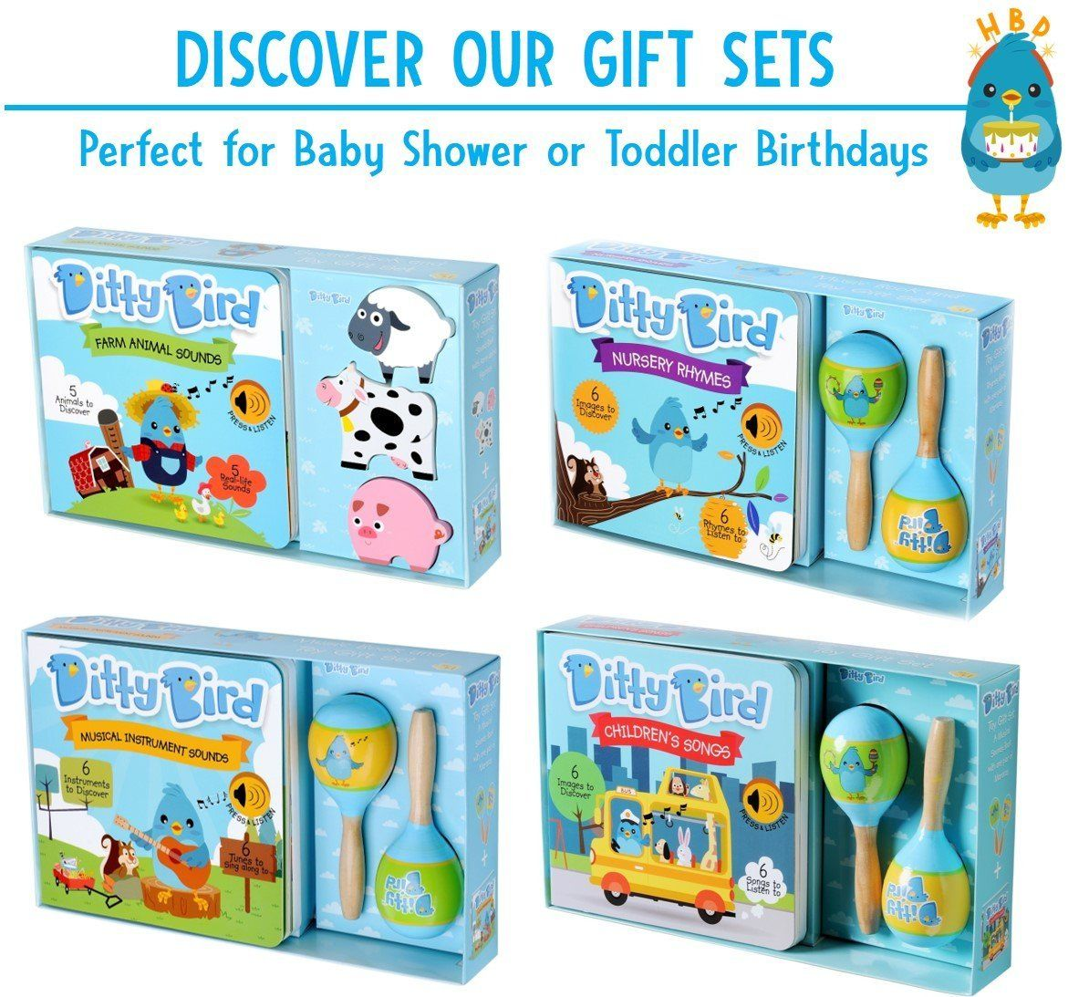 Ditty Bird Our Best Interactive Musical Nursery Rhymes Book For Babies