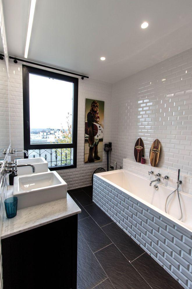 D co murale de salle de bains des id es pour s 39 inspirer bathroom inspiration salle de bain - Decoration murale pour salle de bain ...