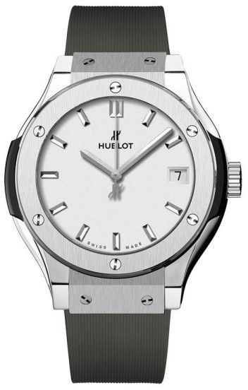 Hublot 581.nx.2611.rx Classic Fusion Quartz Titanium 33mm Mens Watch