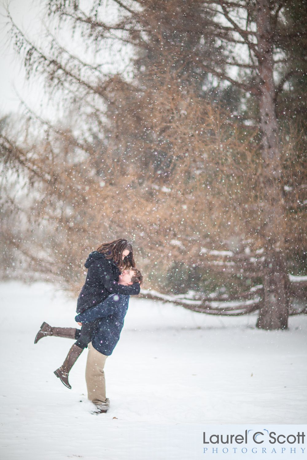 A Midwest Winter Engagement Session In Ames Iowa On The Iowa