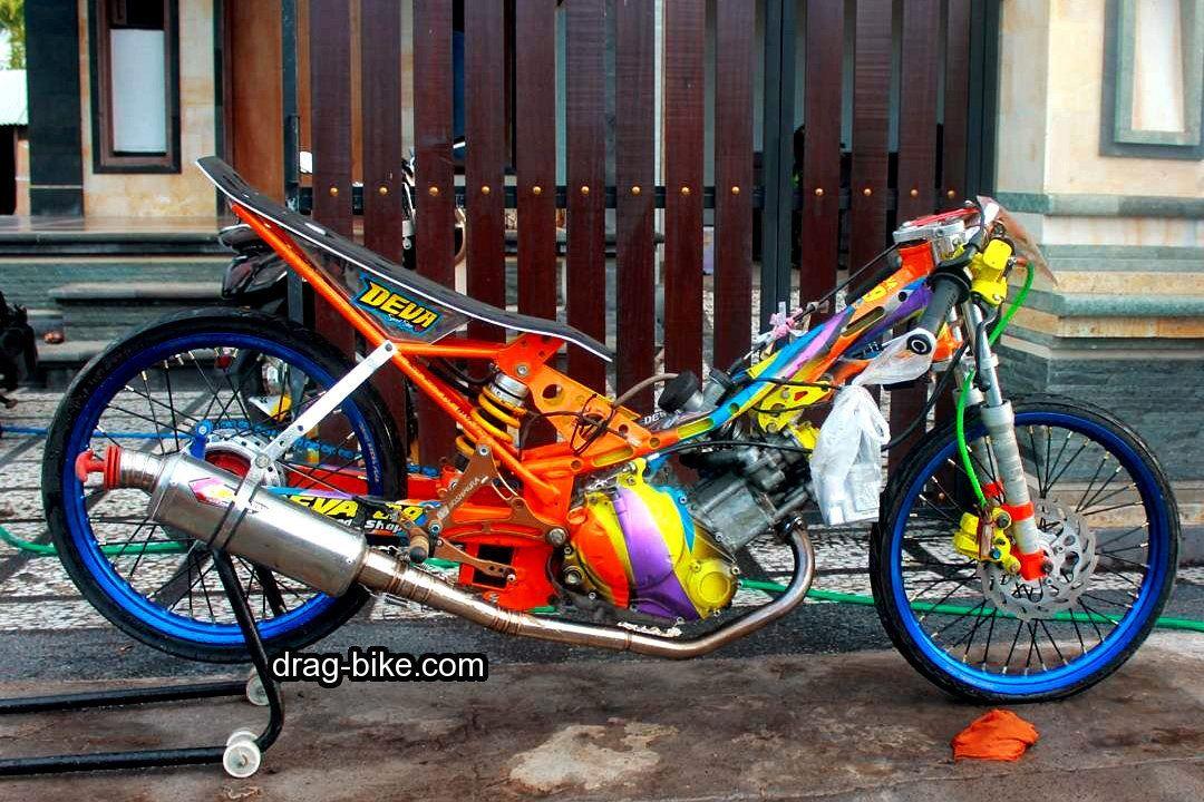 Modifikasi Motor Jupiter Mx 2009 | Drag | Drag bike, Bicycle
