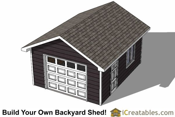 16x24 shed with garage door top view shed pinterest for 16x24 house