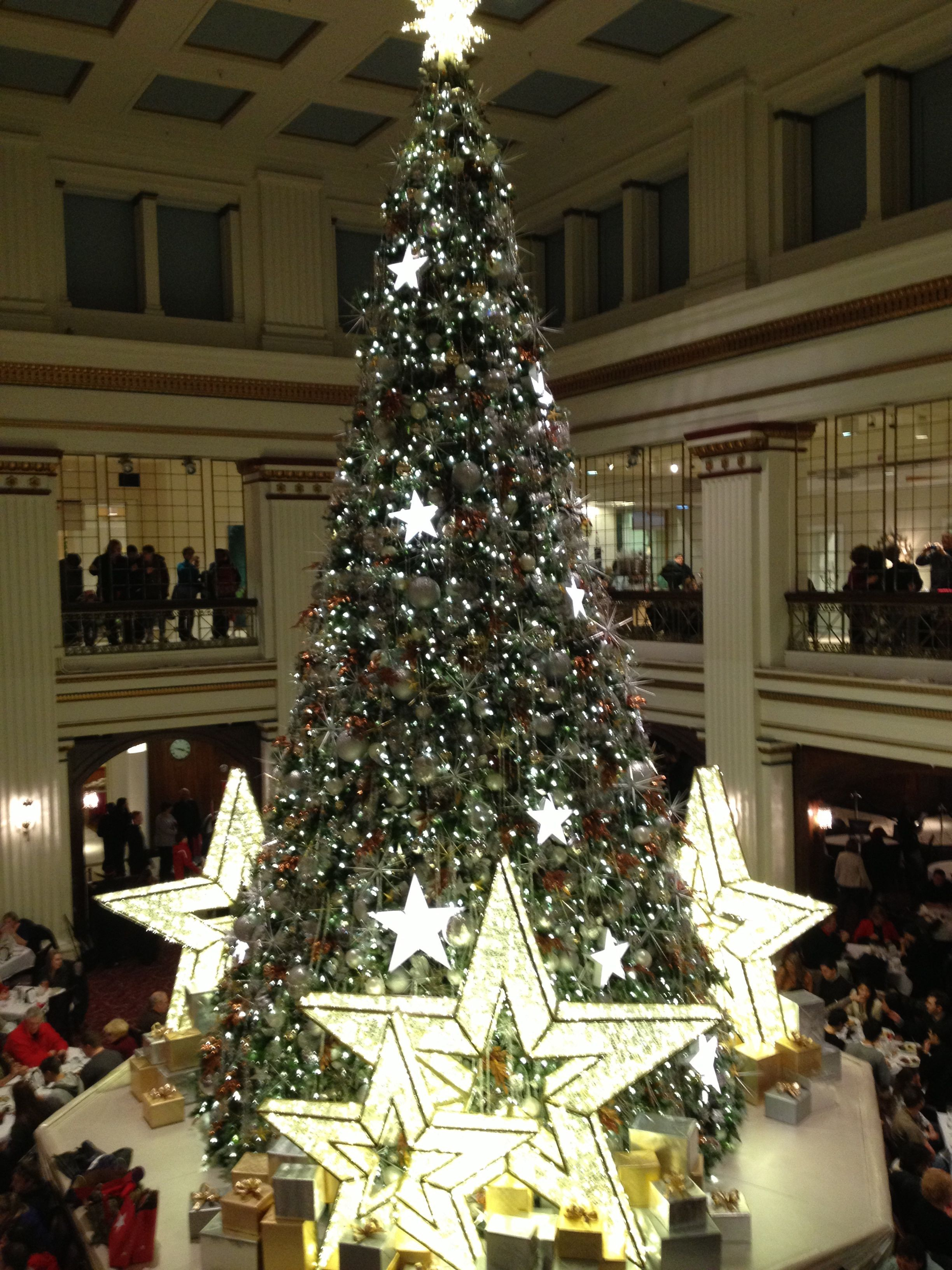 the beautiful christmas tree at the walnut room at macys in chicago grateful for the - Christmas Trees Chicago