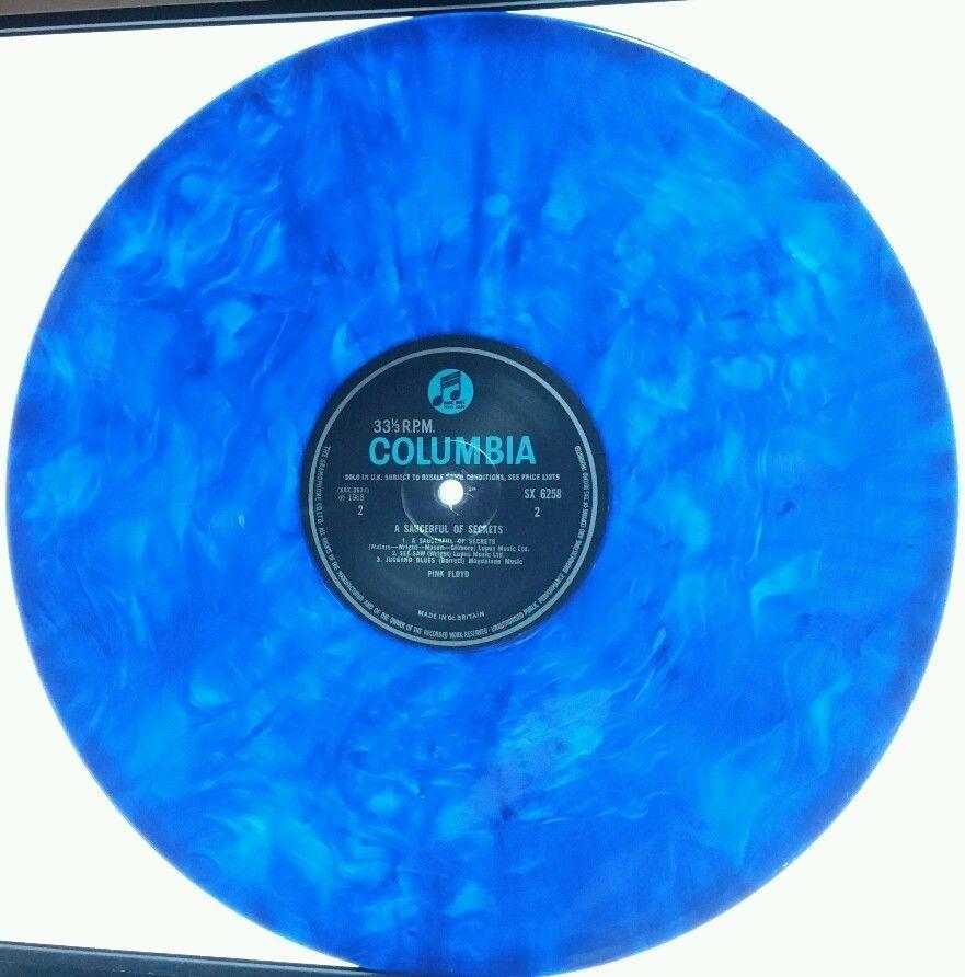 Pink Floyd A Saucerful Of Secrets 180g Blue Colored Marbled Transparent Vinyl Lp Vinyl Pink Floyd Blue Color