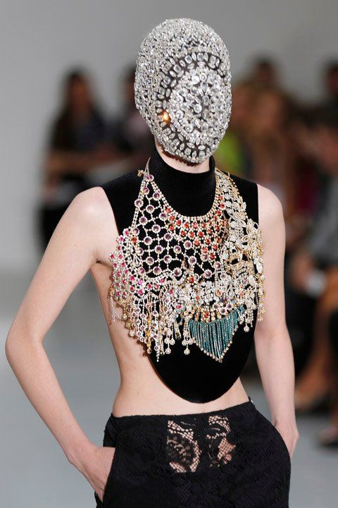 88be26fb6 Crystal face mask? Jeweled Face Masks Steal The Show At Margiela ...