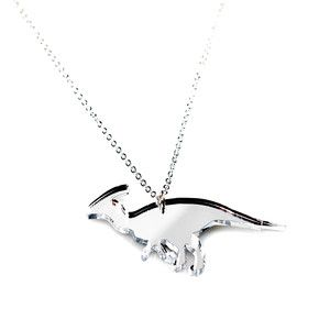 Parasaur Necklace Md Silver, $22, now featured on Fab