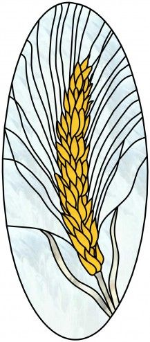 Wheat stained glass window pattern