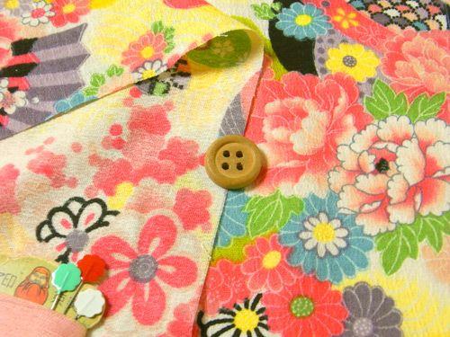 Japanse stof kimono jaren 40