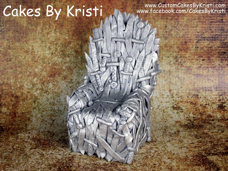 Game of Thrones Iron Throne Fondant Cake Topper от ...