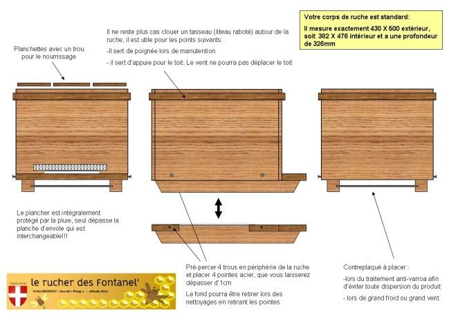 La Construction Du Rucher Le Blog De Rucher Fontanel Plans De Ruche Ruche Ruche Abeille