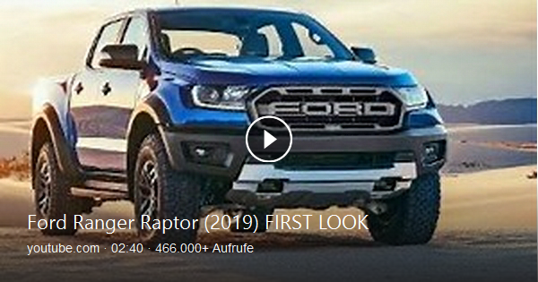 The New 2019 Ford Ranger Raptor New Off Road Performance Pickup