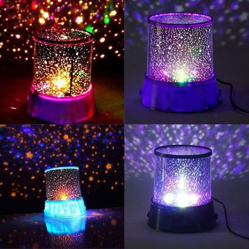 Romantic pink master star sky night light lamp kid dreamlike projector gift in home garden lamps lighting ceiling fans night lights