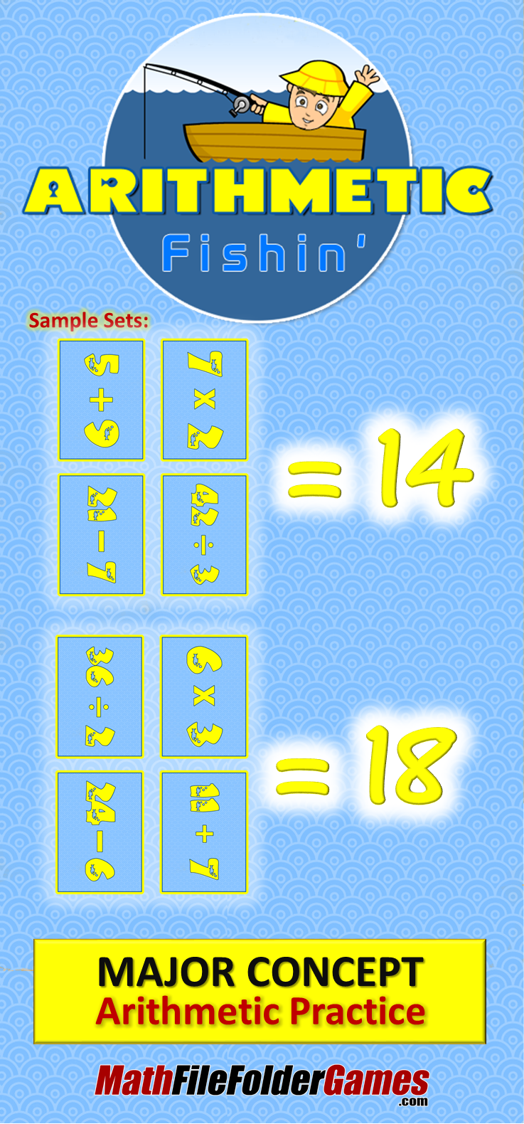 Arithmetic Fishin: Addition, Subtraction, Multiplication & Division ...