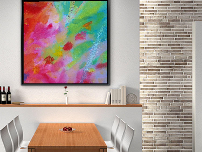 Square abstract paintinglarge acrylic paintinggiclée print canvas