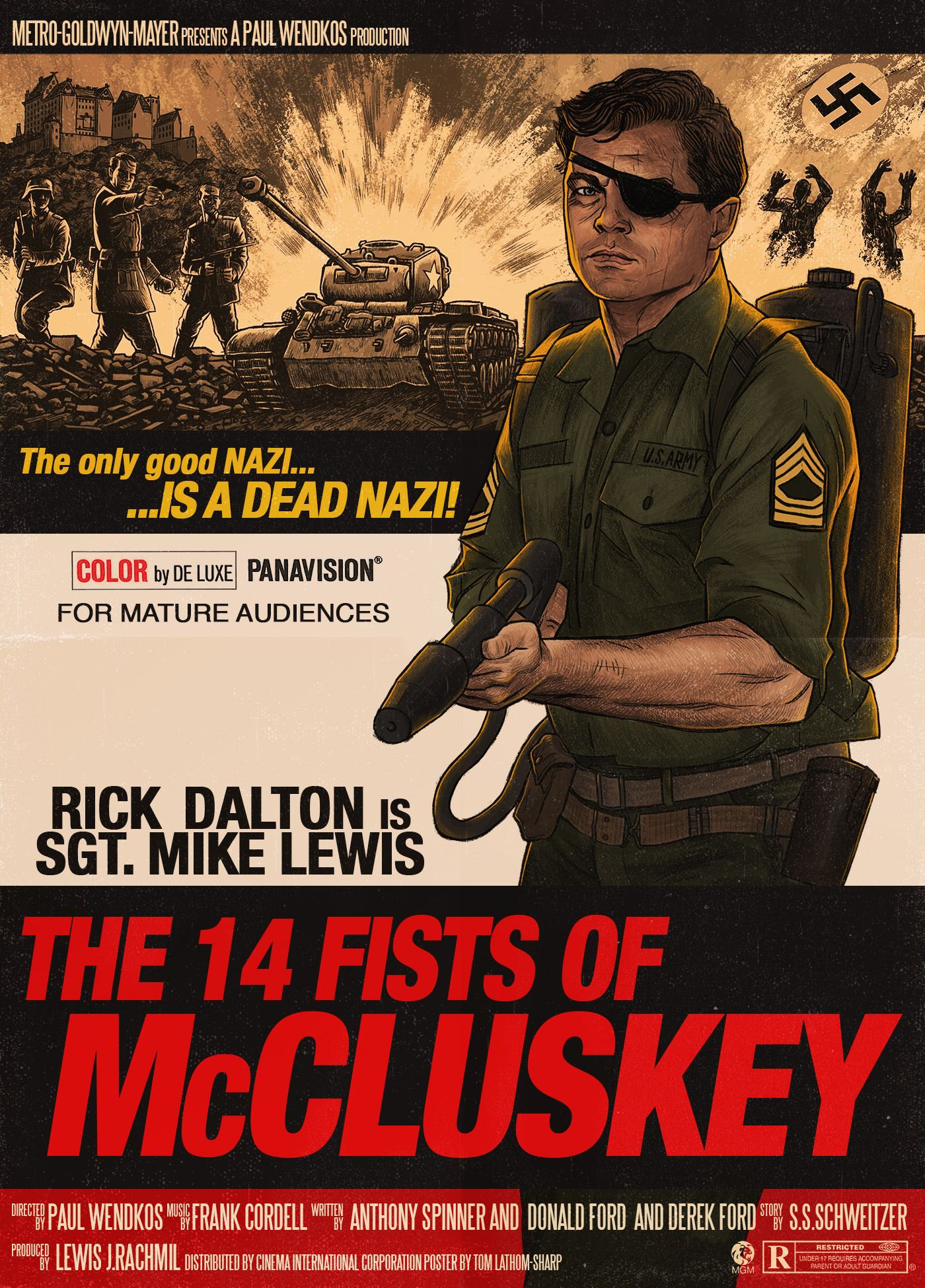 The 14 Fists Of Mccluskey 1968 1400x1950 Best Movie Posters