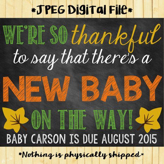 Thanksgiving Pregnancy Reveal   Thanksgiving Pregnancy Announcement