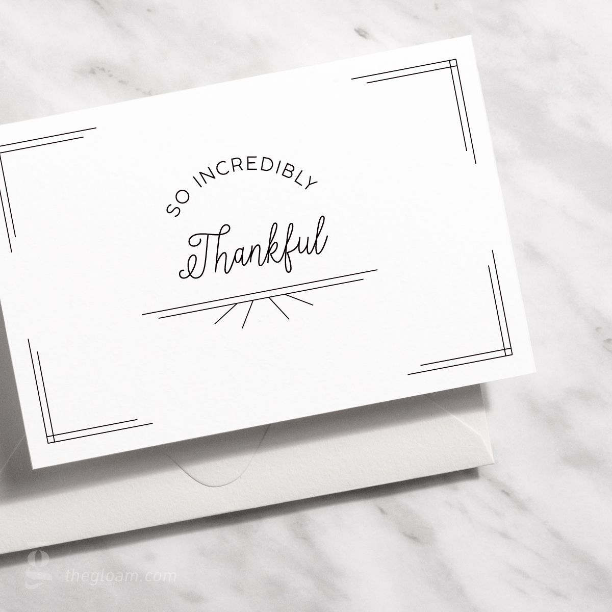 GCT09 Brush lettering Minimal thank you card Black and white card Thank you notes