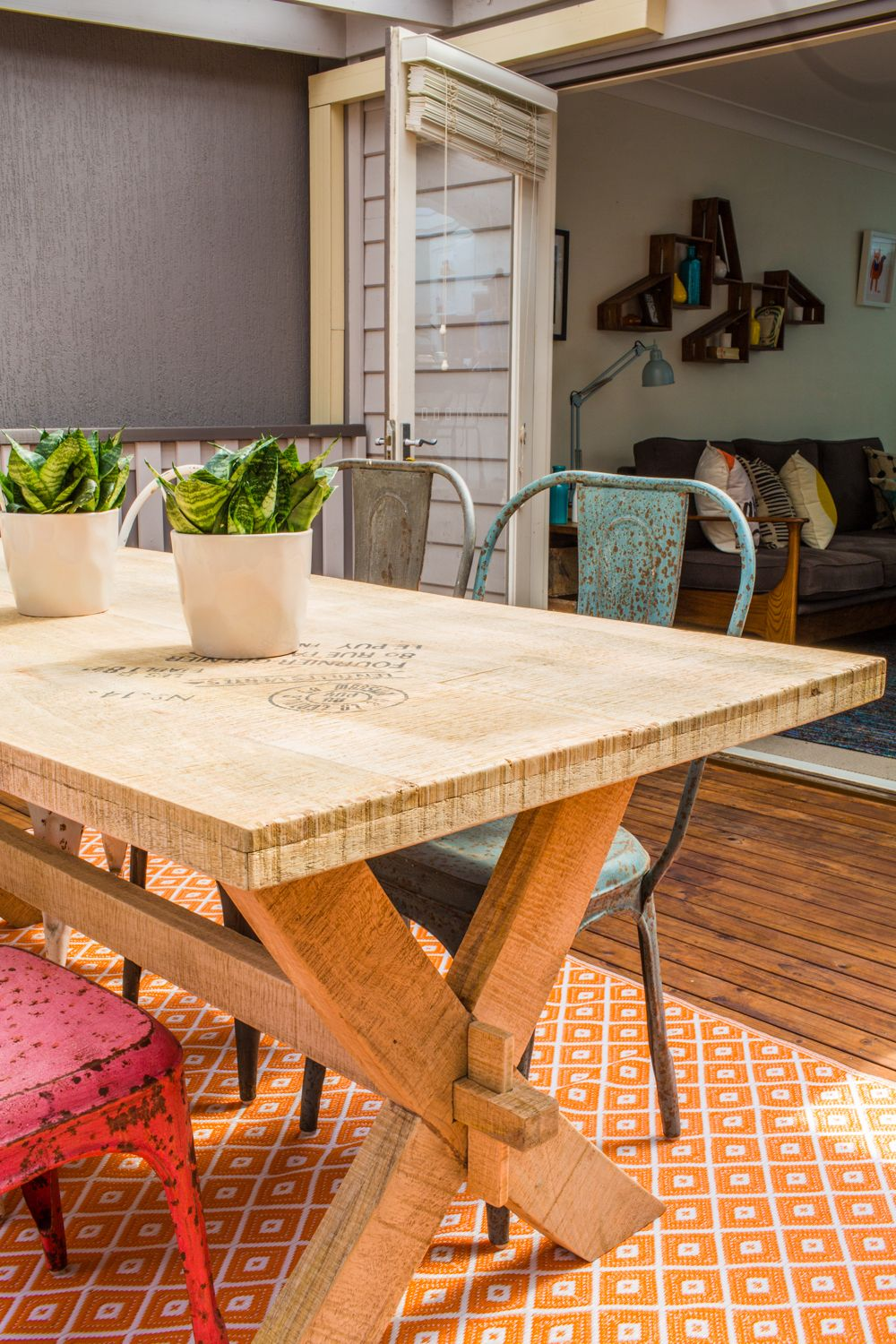 Timber Table From Loft Furniture Outdoor Rug Fab Habitat Plants And Pots Bunnings Temple Webster Home Restyle