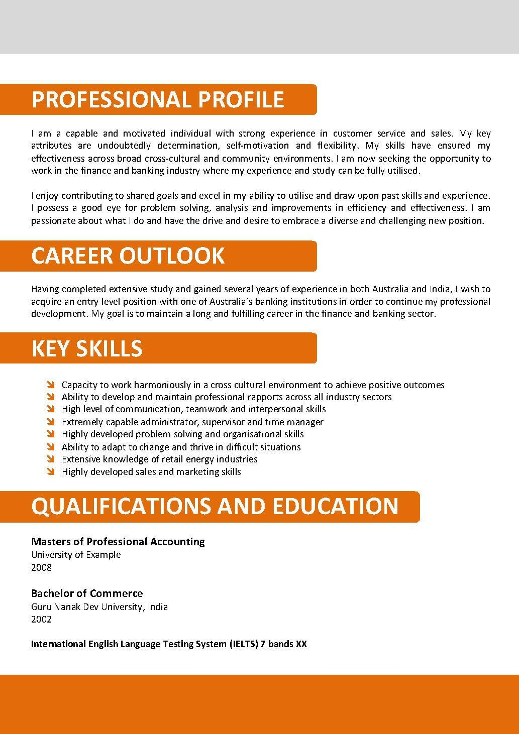 Resume Writing With Resume Templates  Education
