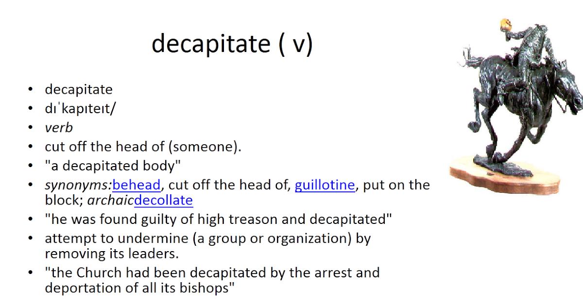Decapitate #gre #vocabulary | vocabulary cards | Vocabulary cards